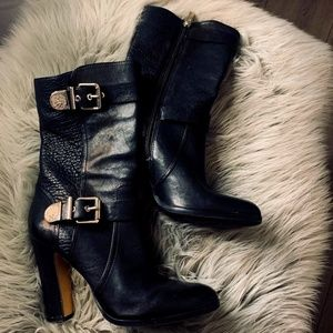 Black leather boots - by Vince Camuto